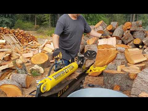 Splitting, Tossing & Stacking Firewood