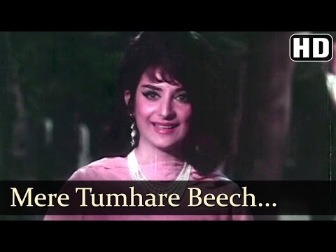 Video Mere Tumhare Beech Mein - Rajendra Kumar - Saira Banu - Jhuk Gaya Aasman Songs - Lata Mangeshkar download in MP3, 3GP, MP4, WEBM, AVI, FLV January 2017