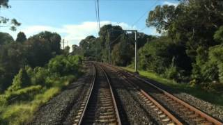 Train Berowra to Central (Sydney, Australia) - Real Time.