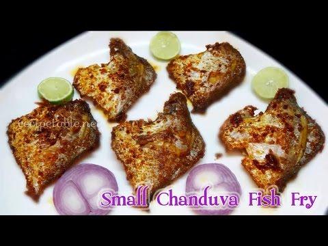 How to Prepare Small Pomfret Fish Fry (చిన్న చందువా చేప వేపుడు)