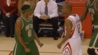Rajon Rondo and Rafer Alston Fight - 2007/2008 - Celtics snap Houston's 22 game winning streak