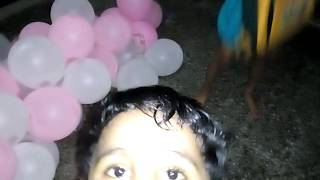 My Son and Friend Enjoying  with balloon for Birthday Celebration. One by one balloon He is destroying and enjoying.Have you also done same enjoyment in your life.