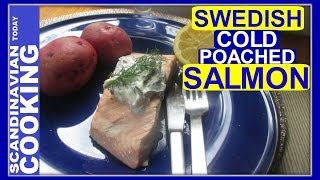 Swedish Midsummer celebrations is soon going to be here.  ThisCold Poached Salmon (Kall inkokt lax) is a Swedish classic. This simple summer dish is perfect for picnics and outdoor dining as well.🐟 🎈Swedish Cold Poach Salmon Recipe:Ingredients:2 salmon fillet6 cups of water1 tablespoon of salt3 tablespoons of white wine vinegar6 peppercorns1 lemon, sliced 🍋1 white small onion, peeled and chopped6 pieces of dill1 star anise 2 bay leavesoptional: add chopped carrots 🥕Instructions:-Fill a big pot of 6 cups of water.-Place all the marinade ingredients (salt, white wine vinegar, peppercorn peppers, lemon slices, chopped white onion, dill, star anise, bay leaves) in a large pot. -Boil for 5 minutes.-Keep the salmon as one piece. Leaving the skin on the fish makes it easier to remove the salmon from the pan in one piece.-Scoring the skin enables the flavors to penetrate the fish. -Put each salmon in the pot.-Return to boil for 1 minute. Then turn off the heat.-When cold enough, transfer to the fridge and leave to cool overnight.-Then remove the salmon from the pot and let it drain a bit before serving.This is a Swedish classic summer dish. Serve with a dollop of dill mayonnaise sauce and new summer potatoes. 🍽️ ☀❄️To get complete recipe with instructions and measurements, check out our bloghttps://scandinaviancooks.com/2017/07/26/how-to-make-swedish-cold-poached-salmon-for-midsummer-kall-inkokt-lax/We hope you enjoyed our video and recipe!  ❄️ Give us thumbs up if you like this video & subscribe for more videos. 👍👍 Thanks! Tak!❄️For notifications of our video release click on the bell (lower left of the video)❄️ SUBSCRIBE to learn how to make Scandinavian dishes. https://www.youtube.com/user/ScandinavianToday❄️ Our Scandinavian Today Cooking Show includes Nordic recipes including Danish, Norwegian, Swedish, Icelandic and Finnish. You might be interested in other Nordic cooking videos includingÆbleskiver ♥ How to Make Danish Aebleskiver with Apple Filling  ❅https://youtu.be