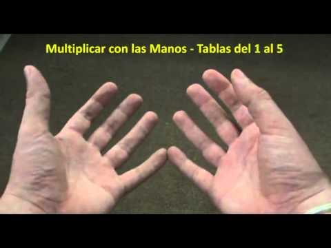 Multiplicar con las Manos –  Las Tablas del 1 a 5