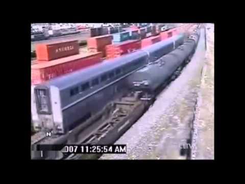 Смертельные.  Аварии с поездами (видео)