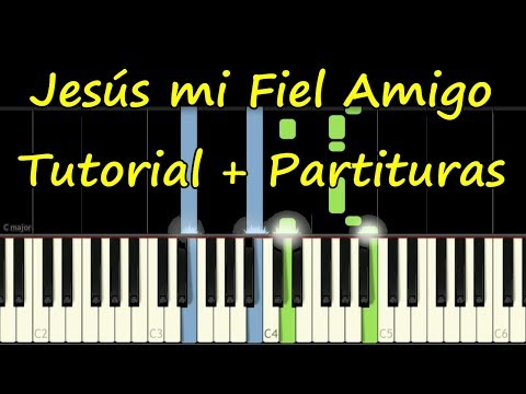 JESUS MI FIEL AMIGO - Piano Tutorial Cover Facil + Partitura PDF Sheet Music Easy Midi