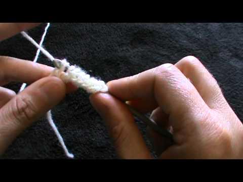 tecnica tunisina all'uncinetto   montare  le maglie, punto semplice
