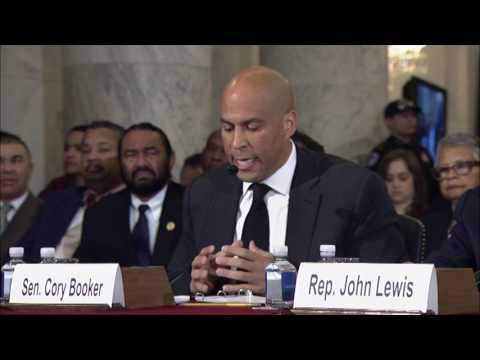 Download Sen. Cory Booker Testifies Against Sen. Jeff Sessions HD Mp4 3GP Video and MP3