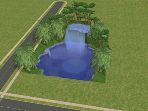 Sims2 - sims 2 waterfall FAQ: how do you get the blue grass? A: you have to download it from a website! i got mine from thesims2.com. go to lots, and search terrain ...