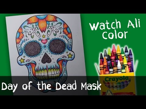 Day of the Dead Mask - Día de Muertos Coloring Pages | by WatchAliColor
