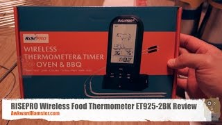 RISEPRO Wireless Food Thermometer ET925-2BK Review