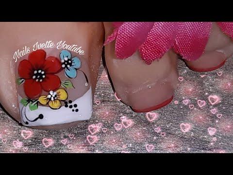 Cómo pintar flores en las uñas/diseño de uñas floral/uñas decoradas con flores