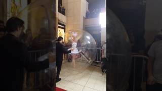Ballerina in a bubble at The Dolby
