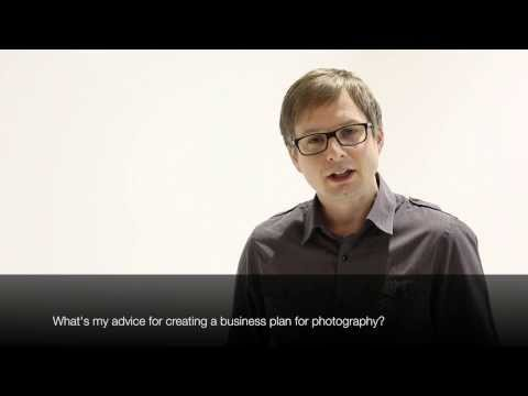 Photographer video blog – advice for a photography business plan