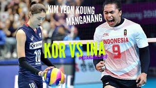 Video Kim Yeon Koung 김연경 ,Manganang :INA VS KOR ASIANGAMES 2018 highlights MP3, 3GP, MP4, WEBM, AVI, FLV September 2018