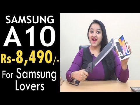 Samsung Galaxy A10 - Unboxing & Overview in HINDI