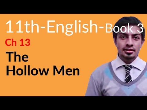 11th Class English Book 3 Topic 10 The Hollow Men
