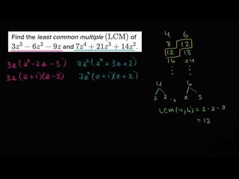 Least Common Multiple Of Polynomials Video Khan Academy