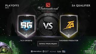 SG e-sports vs Thunder Predator, The International SA QL, game3 [Lum1Sit, Eiritel]