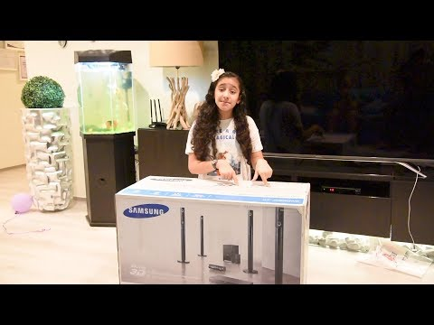 Samsung Home theater HT-J5550WK unboxing and installing - Part 1