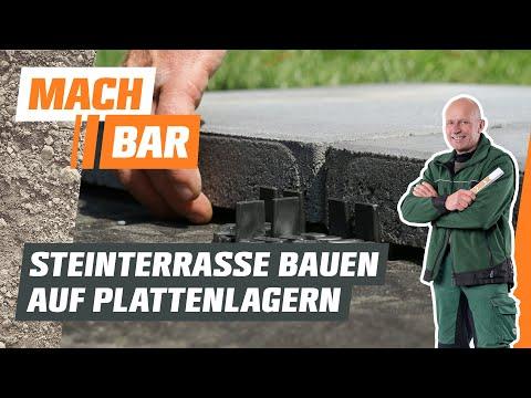Steinplatten verlegen auf Plattenlagern | OBI