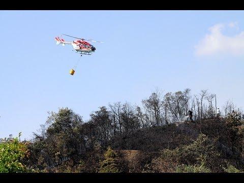 三木、小野市で山林火事