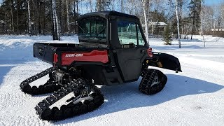 9. 2018 Can Am Defender XT HD8 with Apache 360 LT tracks and Flex Plow