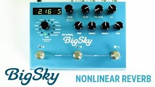 Strymon BigSky - Nonlinear Reverb machine audio demo