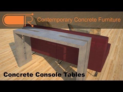 Concrete Console Table | Hallway Tables | Concrete Sofa Table