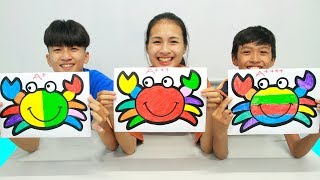 Rainbow Crab Warna Warni Belajar Menggambar dan Mewarnai untuk Anak