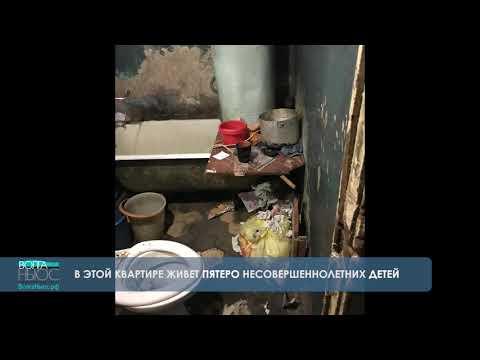 Пятеро детей живут в квартире-помойке (видео)