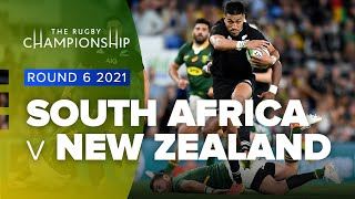 South Africa v New Zealand Rd.6 2021 Rugby Championship video highlights