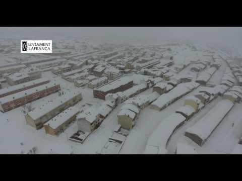 Temporal de nieve en Vilafranca del Cid | Enero de 2017
