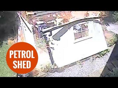 Gartenhaus explodiert
