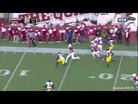 Tevin Coleman 55-yard touchdown run vs Minnesota 2013 video.