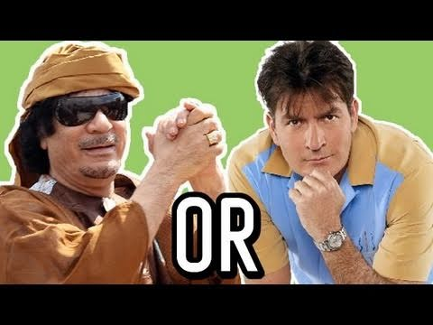 SHEEN or GADDAFI?