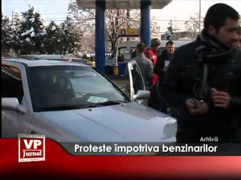 Proteste împotriva benzinarilor