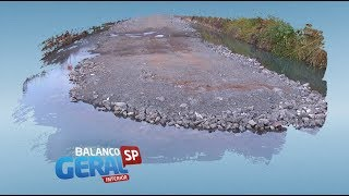 DER é notificado após acúmulo de água durante obras de duplicação da Raposo Tavares