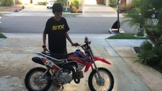 10. 2015 CRF110F REVIEW W/STARTUP!