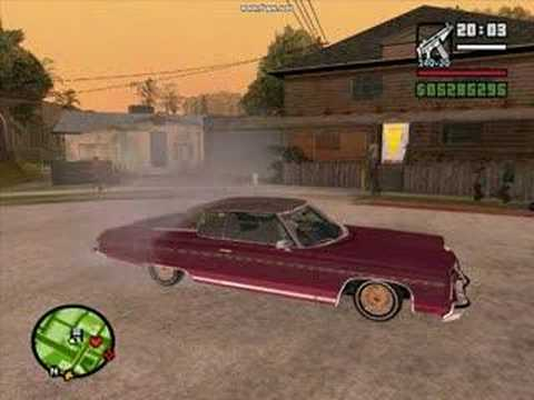 graven101 - My new lowrider mod in San Andreas, Custom hangling and custom rimz.