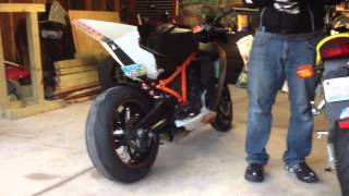 8. 2010 KTM RC8R with Quat-D exhaust slip-ons