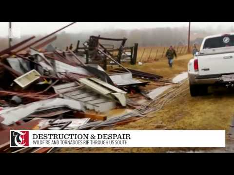 Destruction and despair across much of the south Thursday due to a wildfire that has killed at least 7 in Tennessee...