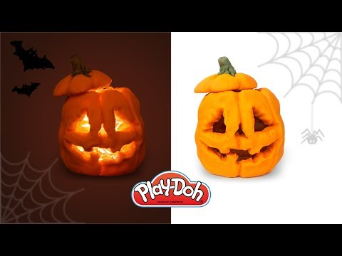 Halloween Lantern out of Play Doh Clay. Halloween 2018 Crafts. Easy DIY for Kids and Beginners