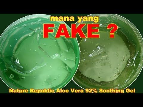 NATURE REPUBLIC ALOE VERA 92% SOOTHING GEL FAKE VS ORIGINAL KOREA | Maria Soelisty