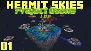 Hermit Skies 01 Apple Tree Food Farm! (Project Ozone Lite Modded Minecraft)