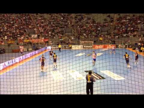 Atletico Balonmano-FC Barcelona Intersport en Vistalegre (FRENTE ATLETICO)