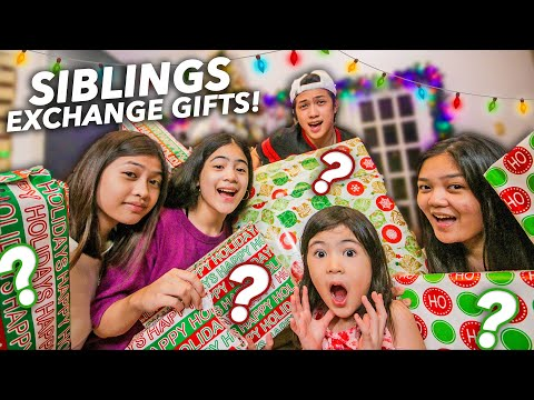 Siblings EXCHANGE GIFTS!! (Unexpected Gift haha!) | Ranz and niana