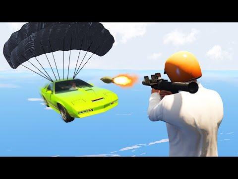 TAKE DOWN THE JAMES BOND CARS CHALLENGE! (GTA 5 Funny Moments) (видео)