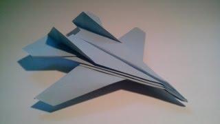 Como hacer un avión de papel F-14 Tomcat - YouTube