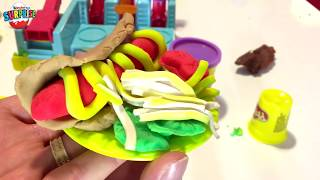 PLAY Doh Burger Builder Playset - Make Your Own Play Dough Hamburgers Fries